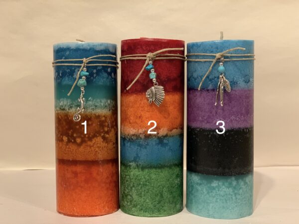 Desert Sunset Candles 2x6 Round